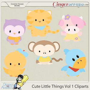 Doodles By Americo: Cute Little Things Vol 1 Cliparts