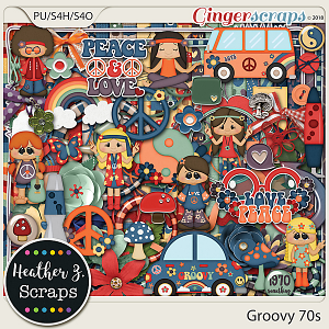 Groovy 70s KIT by Heather Z Scraps