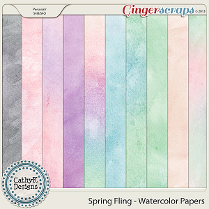 Spring Fling Watercolor Papers: by CathyK Designs