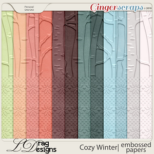 Cozy Winter: Embossed Papers by LDragDesigns