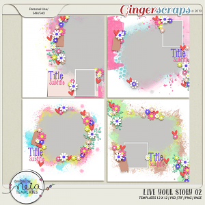 Live Your Story 02 - Templates - by Neia Scraps