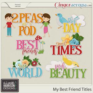 My Best Friend Titles by Aimee Harrison