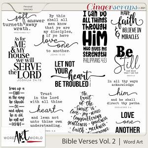 Bible Verses Vol. 2 Word Art