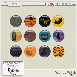 Wendy Witch Flairs by Scrapbookcrazy Creations