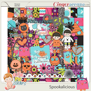 Spookalicious Page Kit