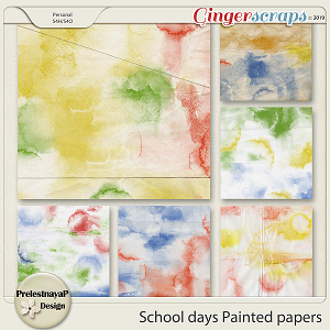 School days Painted papers