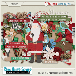 Rustic Christmas Element Pack