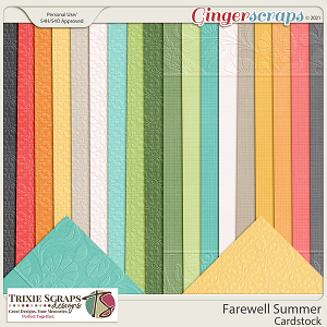 Farewell Summer Cardstock by Trixie Scraps Designs