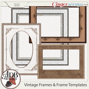 Heritage Resource - Vintage Frames & Frame Templates by ADB Designs