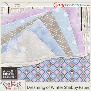 Dreaming of Winter Shabby Papers by Aimee Harrison and Kristmess Designs