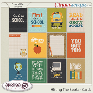 Hitting The Books  - Cards  by Aprilisa Designs