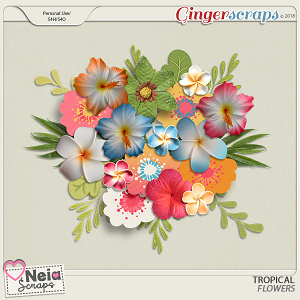 Tropical - Flowers- By Neia Scraps