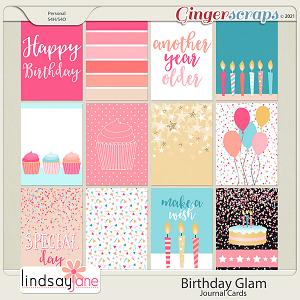 Birthday Glam Journal Cards by Lindsay Jane