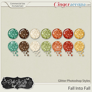 Fall Into Fall Glitter CU Photoshop Styles