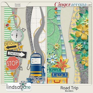 Road Trip Borders by Lindsay Jane