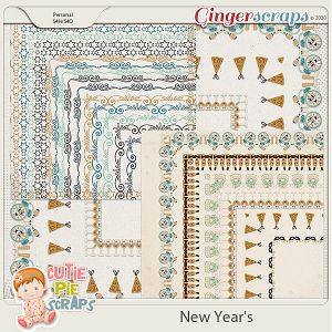 New Year's Page Borders