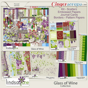 Glass of Wine Collection by Lindsay Jane
