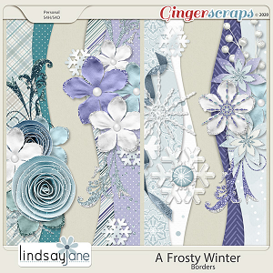 A Frosty Winter Borders by Lindsay Jane
