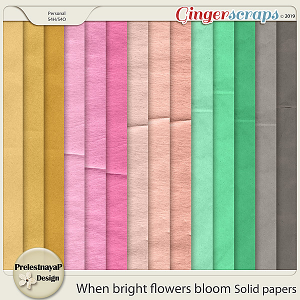 When bright flowers bloom Solid papers