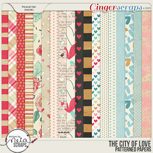 On Location: The City of Love - Patterned Papers - by Neia Scraps