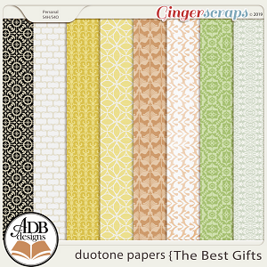 The Best Gifts Duotone Papers by ADB Designs