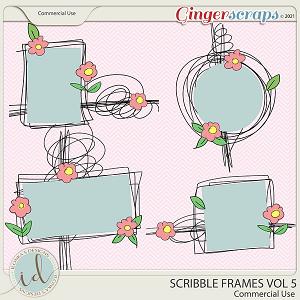 CU Scribble Frames Vol 5 by Ilonka's Designs