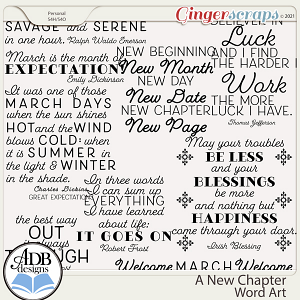A New Chapter Word Art by ADB Designs