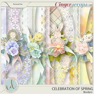 Celebration Of Spring Borders by Ilonka's Designs
