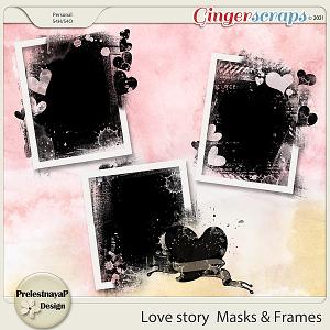 Love story Masks & Frames