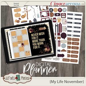 My Life November Planner Pieces - Scraps N Pieces