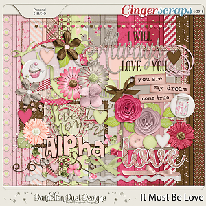 It Must Be Love Digital Scrapbook Kit By Dandelion Dust Designs