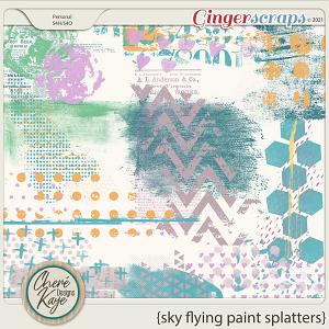 Sky Flying Paint Splatters by Chere Kaye Designs