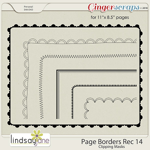 Page Borders Rec 14 by Lindsay Jane