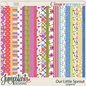 Our Little Sprout {Papers} by Jumpstart Designs