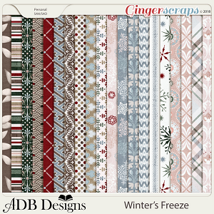 Winter's Freeze Pattern Papers