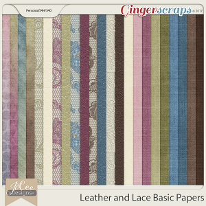 Leather and Lace Basic Papers