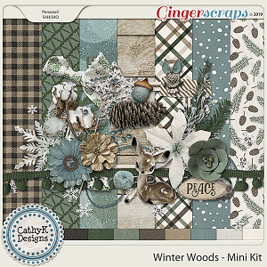 Winter Woods - Mini Kit by CathyK Designs