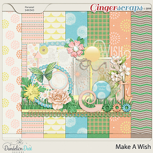 Make A Wish Digital Scrapbook Kit by Dandelion Dust Designs