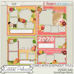 #2020 July - Quick Pages by Connie Prince