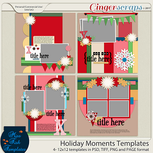 Holiday Moments Templates by Miss Fish