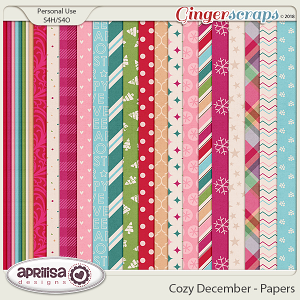 Cozy December - Papers by Aprilisa Designs