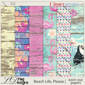 Beach Life, Please: Worn Out Papers by LDragDesigns