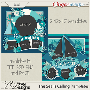The Sea Is Calling: Templates by LDragDesigns