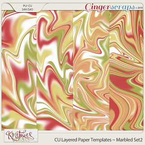 CU Layered Paper Templates ~ Marbled Set2