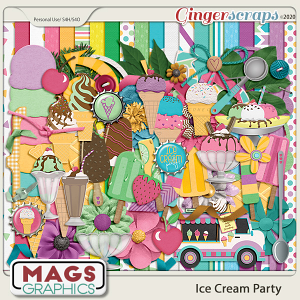 Ice Cream Party KIT by MagsGraphics