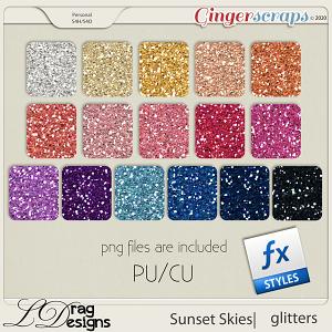 Sunset Skies: Glitterstyles by LDragDesigns