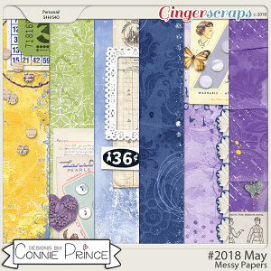 #2018 May - Messy Papers by Connie Prince