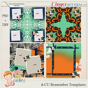 Remember - CU 4 Templates (12X12 )