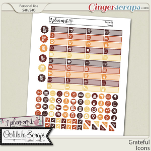 Grateful Planner Icons Pack