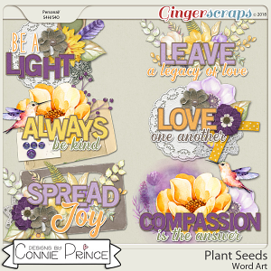 Plant Seeds - Word Art Pack by Connie Prince